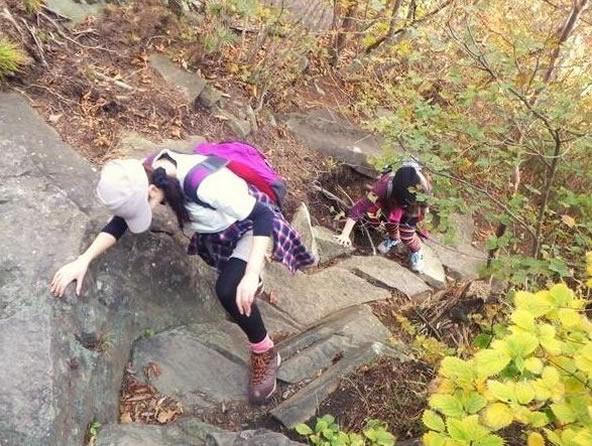 本格登山を体験